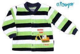Velurová košilka NICOL BAGR - barevný pruh