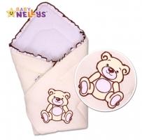 Zavinovačka TEDDY BEAR Baby Nellys - jersey - smetanová