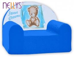 Dětské křesílko/pohovečka Nellys ® - Sweet Dreams by TEDDY - modrá