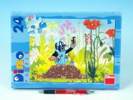 Puzzle Krtek v kalhotkách 26,4x18,1cm 24 dílků v krabici 27x19x3,5cm