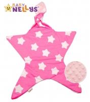 Mazlík pro nejmenší látkový Baby Nellys ® - Stars malina