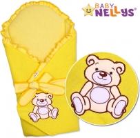 Zavinovačka s výztuží TEDDY BEAR Baby Nellys - jersey - krémově/žlutá