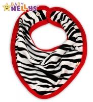 Bavlněný šátek na krk  ZEBRA Baby Nellys ®