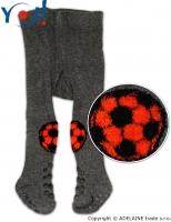 YO ! Bavlněné punčocháčky ABS na chodidle i nártu - grafitové s míčem