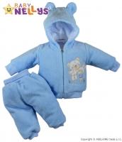 Chlupáčkový komplet OUŠKO Baby Nellys ® - modrý