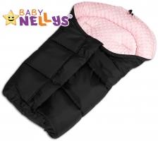 Fusák nejen do autosedačky Baby Nellys ® MINKY - sv. růžový