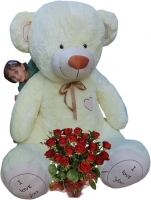 XXL MAXI Plyšový Medvěd OBR - Baby Nellys - smetanový - 250 cm