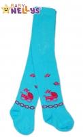 Bavlněné punčocháče Baby Nellys ® - Kočárek - modré