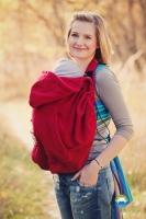Little FROG Baby vak - fleece - červený