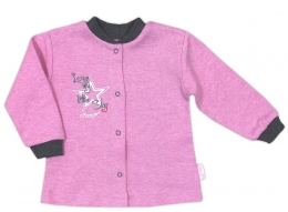 Bavlněná košilka NICOL SUPERSTAR - melír růžová