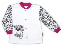 Bavlněná košilka NICOL GEPARDÍK - zapínání středem - bílá