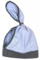 Dětský šátek na hlavičku NICOL AUTO - melír sv. modrá