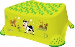 Stolička, schůdek s protiskluzovou funkcí  - Funny Farm - zelená