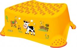 Stolička, schůdek s protiskluzovou funkcí  - Funny Farm - oranžová