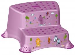 Stolička - schůdky s protiskluzovou funkcí - Hippo - fialový