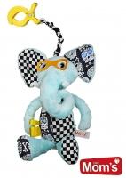 Edukační hračka Hencz s pískátkem SLONÍK - modrý