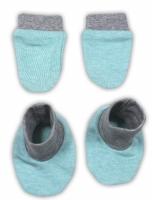 Sada - rukavičky s botičkami NICOL ŽIRAFKA - mátová