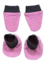 Sada - rukavičky s botičkami NICOL SUPERSTAR - melír růžová