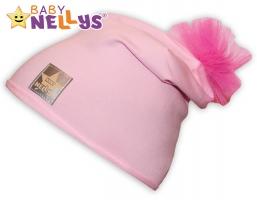 Bavlněná čepička Tutu květinka Baby Nellys ® - sv. růžová
