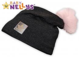 Bavlněná čepička Tutu květinka Baby Nellys ® - grafit