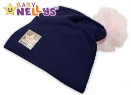Bavlněná čepička Tutu květinka Baby Nellys ® - granátová