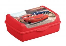 Svačinkový box Cars  1 l - červený