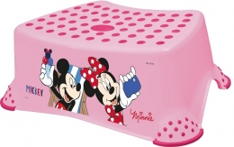 Stolička, schůdek s protiskluzovou funkcí - Minnie - růžová