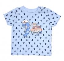 Tričko krátký rukáv Mamatti - Delfín kotvička