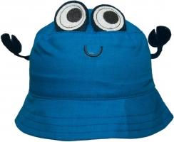 Bavlněný klobouček YO! - CRAW - modrý