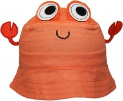 Bavlněný klobouček YO! - CRAW - oranžový