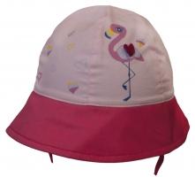 Bavlněný klobouček YO! - Plameňák  - růžový