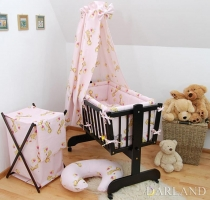 Krásný set do kolébky CL - Žirafky v růžové