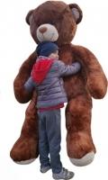 Plyšový Medvěd XXL Baby Nellys 180cm - hnědý