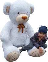 XXL MAXI Plyšový Medvěd - bílý - 190 cm