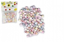 Korálky plastové abeceda 300ks 6mm v sáčku