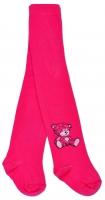 Bavlněné punčocháče Baby Nellys ® - Sweet Teddy - sytě růžové