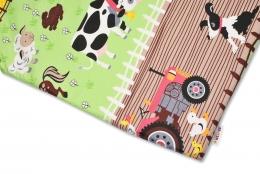 Bavlněné prostěradlo Baby Nellys - Farma