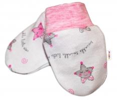 Kojenecké rukavičky Baby Nellys ® - Hvězdičky růžové