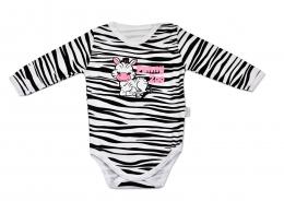 Body dlouhý rukáv Mamatti - Zebra v ZOO