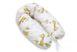 Kojící polštář - relaxační poduška Multi Žirafy - ecru