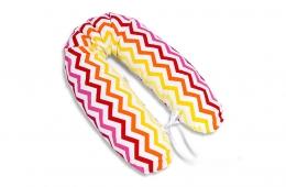 Kojící polštář - relaxační poduška Multi Zigzag - žluto/červený