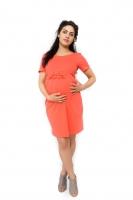 Těhotenské šaty Vivian - korálová