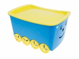 Pojízdný box na hračky Play - modrý