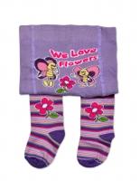 YO ! Bavlněné punčocháčky Motýlci - fialové