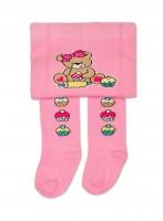 YO ! Bavlněné punčocháčky Medvídek - růžové