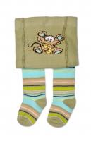 YO ! Bavlněné punčocháčky Myška - khaki