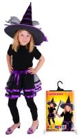 Sukně TUTU čarodějnice/halloween s kloboukem