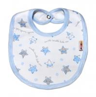 Bavlněný bryndáček Baby Nellys® - Hvězdičky modré