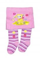YO ! Bavlněné punčocháčky Ovečka -lila