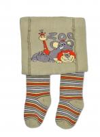 YO ! Bavlněné punčocháčky ZOO - khaki